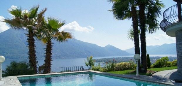 Minusio Schweiz Villa am See Lago Maggiore kaufen, Haus am See mit Seeblick