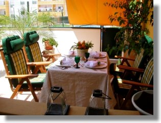 Terrasse vom Apartment in Almancil Portugal
