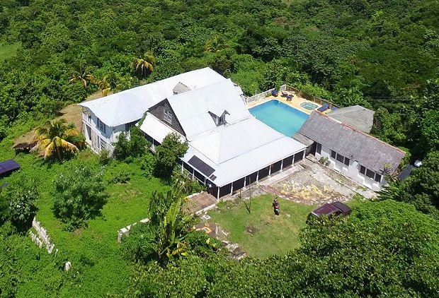 Great House in Bluefields von oben